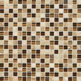 Daltile Stone Radiance Kinetic Caramel Travertino Blend Mosaic
