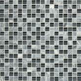 Daltile Stone Radiance Kinetic Glacier Gray Marble Blend Mosaic
