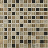 "Bedrosians Elume Glass & Slate Blended Boardwalk 5/8"" Mosaic"