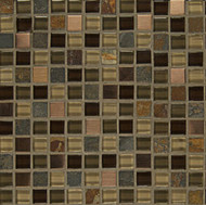 "Bedrosians Elume Glass & Slate Blended Java Bean 5/8"" Mosaic"
