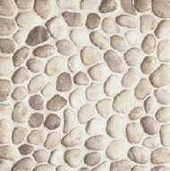 Bedrosians Tilecrest Pebble Rock Cream Flat Mosaic