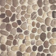 Bedrosians Tilecrest Pebble Rock Mixed Color Flat Mosaic