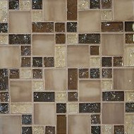 Bedrosians Tilecrest Ice Crackle Brown Mosaic Pattern