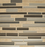 Bedrosians Manhattan Glass/Stone Blends Rockefeller Random Interlocking