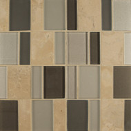 Bedrosians Manhattan Glass/Stone Blends Rockefeller Brick Pattern