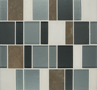 Bedrosians Manhattan Glass/Stone Blends Long Island Brick Pattern
