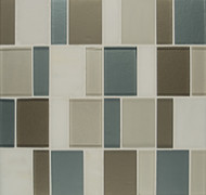 Bedrosians Manhattan Glass/Stone Blends Riverside Park Brick Pattern