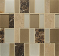Bedrosians Manhattan Glass/Stone Blends Midtown Brick Pattern