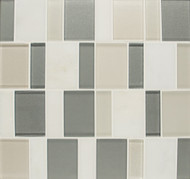 Bedrosians Manhattan Glass/Stone Blends Tribeca Brick Pattern