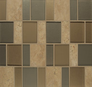 Bedrosians Manhattan Glass/Stone Blends Battery Park Brick Pattern