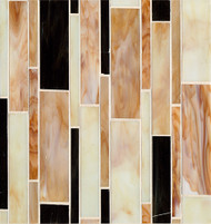 Bedrosians Retrospect Glass Parfait Linear Mosaic