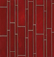 Bedrosians Retrospect Glass Rouge Linear Mosaic