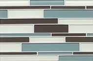 Bedrosians Hamptons Glass Cove Linear Interlocking Mosaic