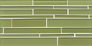 Bedrosians Hamptons Glass Reed Linear Interlocking Mosaic