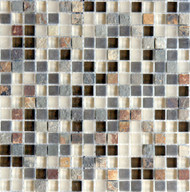 "Eleganza Tile Arizona Glendale 1/2"" x 1/2"" Glass Mosaic"