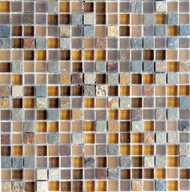 "Eleganza Tile Arizona Mesa 1/2"" x 1/2"" Glass Mosaic"