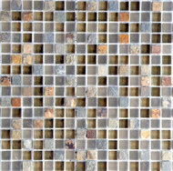 "Eleganza Tile Arizona Tuscon 1/2"" x 1/2"" Glass Mosaic"