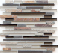 Eleganza Tile Arizona Glendale Brick Glass Mosaic