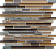 Eleganza Tile Arizona Mesa Brick Glass Mosaic