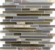 Eleganza Tile Arizona Tuscon Brick Glass Mosaic