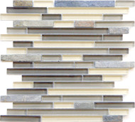 Eleganza Tile Arizona Tempe Brick Glass Mosaic