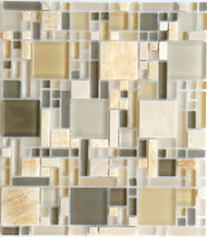 Eleganza Tile Luxe Chic Luxe Pattern Glass Mosaic