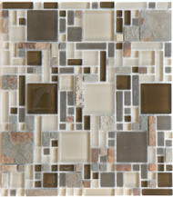 Eleganza Tile Luxe Rustic Luxe Pattern Glass Mosaic