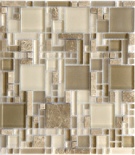 Eleganza Tile Luxe Grand Luxe Pattern Glass Mosaic