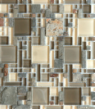 Eleganza Tile Luxe Urban Luxe Pattern Glass Mosaic