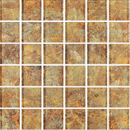 "Eleganza Tile Metallic Bronze 2"" x 2"" Glass Mosaic"