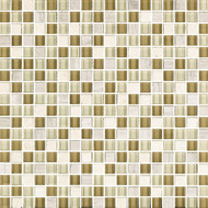 "Eleganza Tile West Claro 1/2"" x 1/2"" Glass & Stone Mosaic"