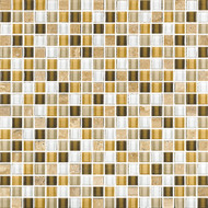 "Eleganza Tile West Maduro 1/2"" x 1/2"" Glass & Stone Mosaic"