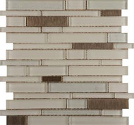 Emser Tile Flash Beaming Linear Glass Wall Mosaic W80FLASBE1213MO