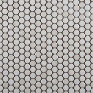 Emser Tile Confetti White Penny Round Mosaic W85CONFWH1212MOP