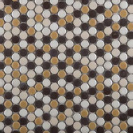 Emser Tile Confetti Caldo Blend Penny Round Mosaic