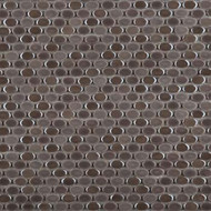 Emser Tile Confetti Pewter Oval Mosaic W85CONFOE1212MOO
