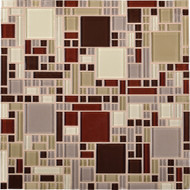 Daltile Circuit CT21 Vivace 12x12 Glass Mosaic Tile