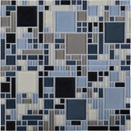 Daltile Circuit CT25 Lento 12x12 Glass Mosaic Tile