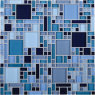 Daltile Circuit CT26 Largo 12x12 Glass Mosaic Tile