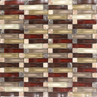 Daltile Intertwine (PTS) F179 Energy Blend 5/8x2 Mosaic