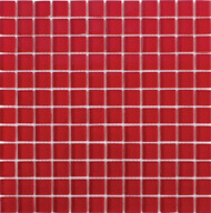 "Interceramic Interglass Shimmer Red 3"" x 6"" Tile"