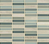 "Crossville Tile Ebb & Flow Sand and Surf 1/2"" x 3"" Mosaic"