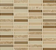 "Crossville Tile Ebb & Flow Rock and Minerals 1/2"" x 3"" Mosaic"