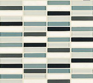"Crossville Tile Ebb & Flow Wind and Rain 1/2"" x 3"" Mosaic"