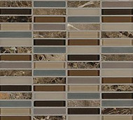"Crossville Tile Ebb & Flow Sticks and Stones 1/2"" x 3"" Mosaic"