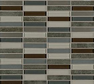 "Crossville Tile Ebb & Flow Dusk and Dawn 1/2"" x 3"" Mosaic"