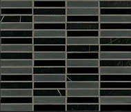 "Crossville Tile Ebb & Flow Cinders and Smoke 1/2"" x 3"" Mosaic"