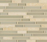 Crossville Tile Ebb & Flow Moon and Stars  Mixed Linear Mosaic