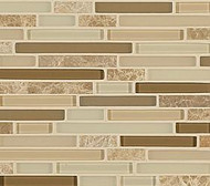 Crossville Tile Ebb & Flow Rock and Minerals  Mixed Linear Mosaic