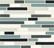 Crossville Tile Ebb & Flow Wind and Rain  Mixed Linear Mosaic